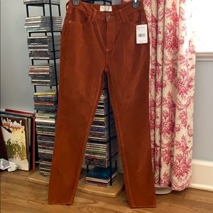 free people fired chestnut corduroy pants